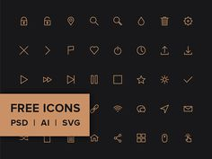Here is an icon pack including 40 line icons provided in many different formats (PSD, AI, SVG & Webfont). A freebie designed and released by...