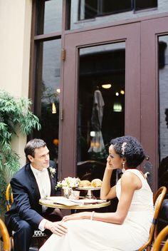 Art Deco Wedding Inspiration from Reg Campbell Funny Wedding Photos, Vintage Wedding Photos, Beach Wedding Photos, Vintage Weddings, Great Gatsby Wedding, Wedding Couples, Wedding Bride, Wedding Shot, Interracial Wedding