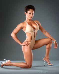 Former WWE Diva, TNA star and fitness model Kristal Marshall.