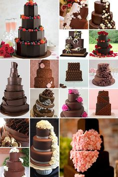 Dark Chocolate Wedding Cakes