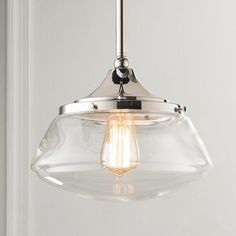 Modern Diner Pendant Light - compare this to the globe above sink