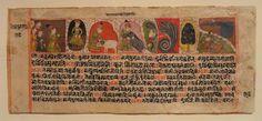 Pradyumna Kumar undergoes the sixteen ordeals, from a Nemipurana of Brahmanemidatta, Marwar, Rajasthan, India, 1610 AD, opaque watercolor on paper - San Diego Museum of Art
