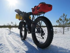 Toni Lund - Adventure cyclist...snow riding with a fat bike. I need this kind of bike when we move to Alaska :)