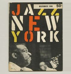 1956 Robert Brownjohn Jazz NEW York Festival BK LEE Friedlander Ivan Chermayeff   eBay