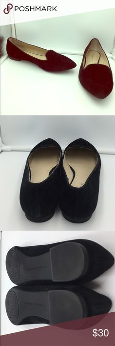 Designer flats 😍 Adrienne Vittadini Gorgeous pre loved Adrienne Vittadini black leather flats. In great shape(see pics). This is your chance to own luxury shoes at a steep discount 😍😍 Size 9. Adrienne Vittadini Shoes Flats & Loafers