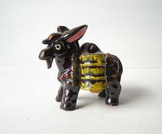 Vintage Redware Pottery Donkey Salt & by MomsantiquesNthings