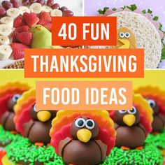 Fun Thanksgiving food ideas! Cute & creative turkey treats!