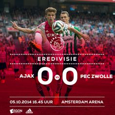 Helaas geen drie punten vandaag voor #Ajax..