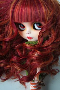 Baby Fire by erregiro #dolls #dollies #blythe #handmade