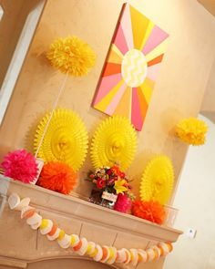 Decor for a Sunshine birthday party