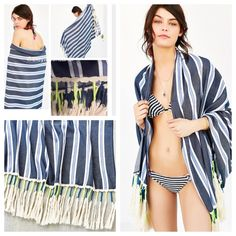 🚢Urban Outfitters Striped Beach Wrap Blanket✈️HP Urban Outfitters Ecote Shag Trim Striped Beach Blanket Wrap Scarf. Oversized scarf in woven tonal stripes, perfect for the beach as a cover-up or a blanket! Finished with long, string-wrapped fringe trim at both ends. Sold out online. Winter cruise and vacation friendly. 💕GETAWAY STLE HOST PICK 8/22/2016💕. Urban Outfitters Accessories Scarves & Wraps