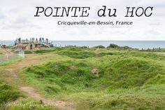 Pointe du Hoc in Circqueville-en-Bessin, France was a German bunker that was bombed heavily during WWII. US Army Ranger monument found here as well. Us Army Rangers, Normandy France, Le Point, Bunker, France Travel, Day Tours, Day Trip, Wwii, Country Roads