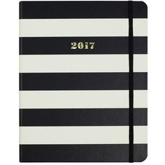Women's Kate Spade New York Large 17-Month Agenda ($36) ❤ liked on Polyvore featuring home, home decor, stationery, other, fillers, notebooks, books and black stripe