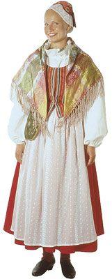 Nurmijärven naisen kansallispuku. Kuva ©  Suomen kansallispukuneuvosto, Ulla Paakkunainen 1999 Folk Costume, Costumes, Ader, Finland, Scandinavian, Hair Beauty, Folklore, Nostalgia, How To Wear