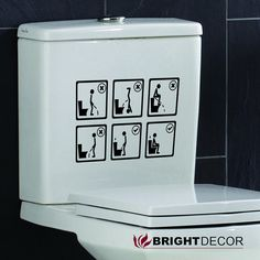 Toilet  Decal Wall Art Wallpaper  instructional by Brightdecor, $5.50