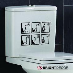 Instrucciones de Sanitario en vinilo para quarto de por Brightdecor
