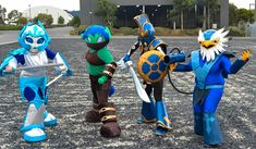 Skylanders! by *BlackRabbitArtisan on deviantART  Daughter wants to be CHILL for Halloween.. I better learn to sew clothes.
