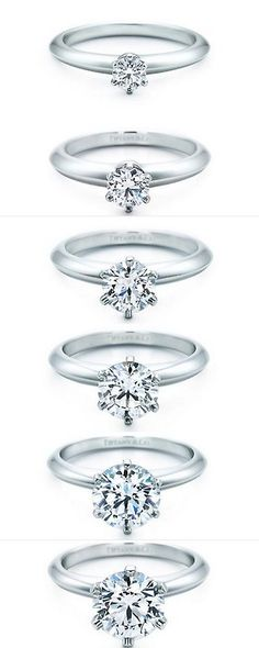 Tiffany & Co.- Every girl dreams of the 6th one...but I think the 3rd one is a nice size! Even the 2nd one!!
