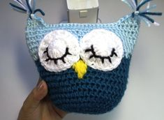 #Crochet owl pillow - subtitulos en Espanol (+playlist) I like the eyes + nose + ear