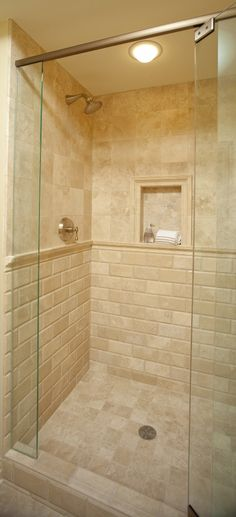 Wall and Floor Tile: Ivory Travertine honed and filled in 3x6 bevel, 4x4, 6x6 and versailles pattern