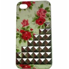Punk Style Cell Phone Cover for Apple iPhone 5 with Studs and Spikes Case Silvery