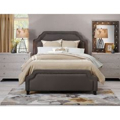 For the fashionista: The Carlyle bed is stylish and comfortable but glams up any bedroom! #InteriorInspo #Inspiration