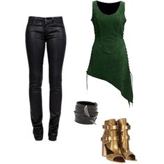 Loki inspired outfit by AkyraStar on polyvore I don't care so much about the Loki, but I love the top