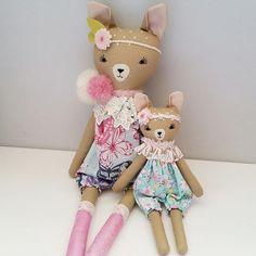 "195 Likes, 7 Comments - Jo Molony - Perth Australia (@deerdarlingdolls) on Instagram: ""Two sweet fawns  #deerdoll #deer #deertoy #deerclothdoll #fawn #fawndoll #fawnclothdoll #bambi…"""