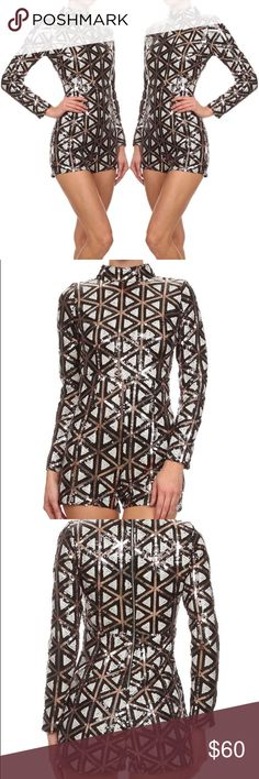 Sequined Romper Brand new. Boutique item #shopthemarbella true to size available in S M L 💕💘 perfect for Vegas or the holidays. No trades and price is firm Dresses Prom