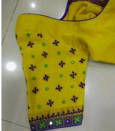 Order contact my WhatsApp number 7874133176 Kutch work embroidery Simple Blouse Designs, Dress Neck Designs, Fancy Blouse Designs, Saree Blouse Neck Designs, Sleeve Designs, Mirror Work Blouse Design, Kutch Work Designs, Boutique, Decoration