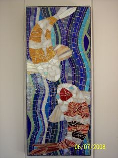 Yin Yang Koi Mosaic by Tara Armbruster #Mosiac
