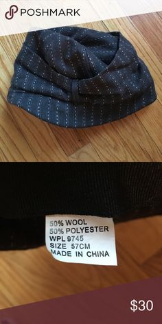 Black & White Stripped Hat, Anthropologie Black & White Stripped Hat, Anthropologie Anthropologie Accessories Hats