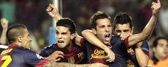 Jordi Alba, FC Barcelona   Celebra a lo grande su decisivo gol contra el Celtic.