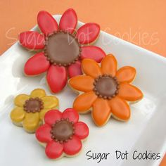 Sugar Dot Cookies: Thanksgiving Sugar Cookies