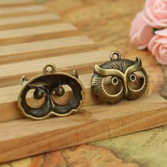 Find More Charms Information about 50pcs diy european floating bracelet Plated Bronze Alloy Retro Owls Head charms for necklace Pendant Jewelry Findings 24*21mm,High Quality charm doll,China bracelet gold charms Suppliers, Cheap charm bracelet leather from Playful beauty department store on Aliexpress.com