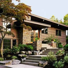 Remake an entrance to a split level- Sunset.com