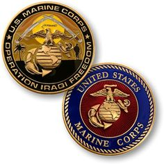 Operation Iraqi Freedom Challenge Coins Measures Round Made of Antique Brass with Enamel Usmc Quotes, Military Quotes, Coin Collecting Books, Military Challenge Coins, Coin Design, Famous Monsters, Merit Badge, Us Marines, Marine Corps