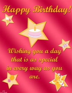 457 best b day greeting cards images on pinterest in 2018 this starry birthday ecard features dazzling stars on a bright red background download send to m4hsunfo