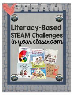 Literacy Based STEAM Challenge  - This download includes 4 STEAM challenges: The Great Air Race, Become an Inventor, My Mixed Up Chameleon, and How to Create a Tangram Animal. #teachersherpa