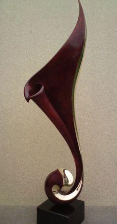 Bronze Interior Design sculpture by artist Charles Westgarth titled: 'Rhythm (Bronze Abstract Swirling sculptures)' £2500 #sculpture #art