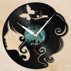 Stunning and Unique Homemade Wall Clocks With Vinyl Wall Clock Girl