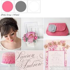 Pink and Gray! http://www.theperfectpalette.com/2012/03/think-pink-pretty-palette-of-pink-gray.html