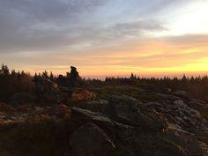 Hoher Stein (Vysoký kámen) #Sonnenuntergang #Erlbach