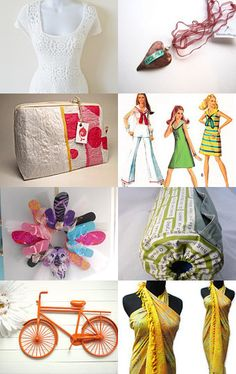 """paroliro on ETSY white crochet dress featured on """"Recycle Party"""" Treasury by my talented fellow Etsian DJ, featuring all vintage, repurposed, recycled, eco friendly items!"""