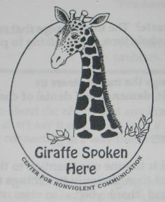 Giraffes are the symbol for Non Violent Communication