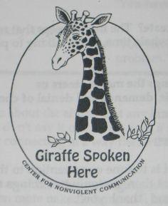 Giraffes are the symbol for Non Violent Communication