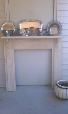 Fake fireplace ~ Manda O.  I want this in basement, would look cute in your home too!