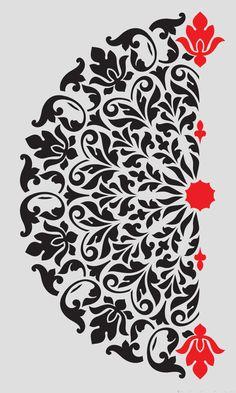 wall Stencil Designs - Mandala Stencil Tribal Pattern Surat for DIY Wall Decor Modern Home Decorative Stencils. Mandala Stencil modello tribale Surat per stencil decorativo Mandala template tribal pattern Surat templates We will continue to share the most Stencil Fabric, Damask Stencil, Stencil Art, Fabric Painting, Stenciling, Modern Wall Decor, Diy Wall Decor, Decor Crafts, Diy Crafts