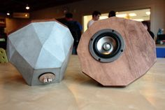 Instructables for DIY molded concrete speaker bases.