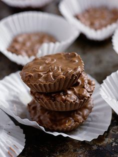 """Trisha Yearwood: I love this kind of recipe. The candies look so pretty and appear really hard to make. Just layer everything in the crockpot and wait!"""" Read more: Recipes from Trisha Yearwood - Crock-Pot Chocolate Candy - Redbook Candy Recipes, Sweet Recipes, Holiday Recipes, Dessert Recipes, Recipes Dinner, Christmas Recipes, Dessert Ideas, Dinner Ideas, Just Desserts"""